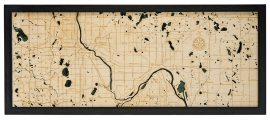 Bathymetric Map Minneapolis / St. Paul, Minnesota